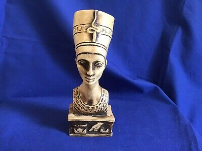 """Very Nicely Carved Stone/Resin Egyptian Queen Nefertiti. Approx 5"""" High"""