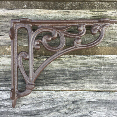 1Pair Cast Iron Antique Style Brackets Garden Braces Rustic Shelf Bracket Coffee