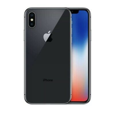 Apple iPhone X - 64GB - Space Grey - Silver UNLOCKED Grade B+
