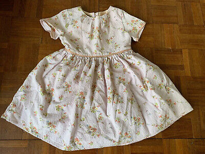 Next Girls Dress 3-4 Years Pale Pink Floral