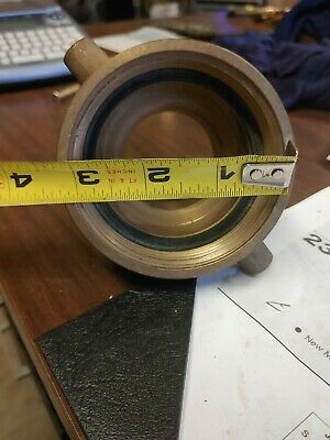 3 To 2 2/4 Inch Brass Fire Hydrant Hose Adapter