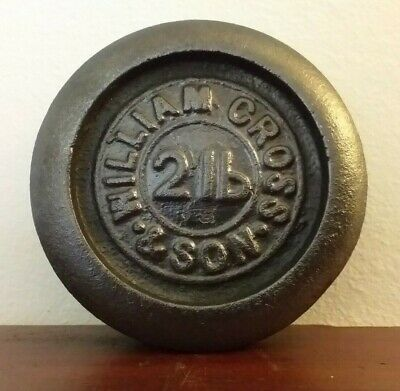 Vintage Cast Iron William Cross & Son's 2lb  Weight  - Great Paperweight