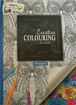 Adult Colour Therapy Anti-Stress Colouring Book A4 160 Designs