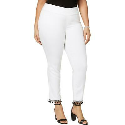 Style & Co. Womens White Mid-Rise Comfort Waist Ankle Pants Plus 22W BHFO 1399