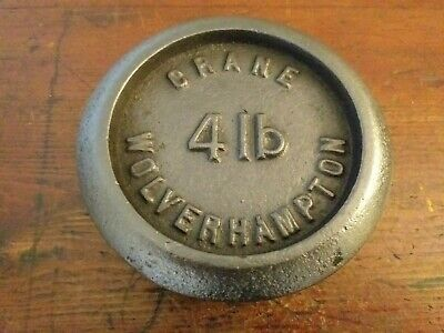 Vintage Cast Iron 4lb Wt - Crane Wolverhampton - Great Paperweight or Doorstop