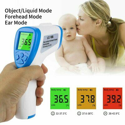 IR Infrared Digital Thermometer Non-Contact Forehead Fever Baby Adult Body Milk
