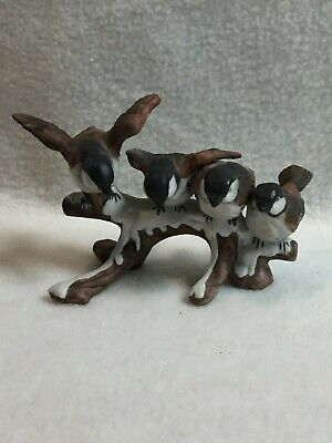 Enesco Sparrows on Snow-covered Tree Branch Figurine