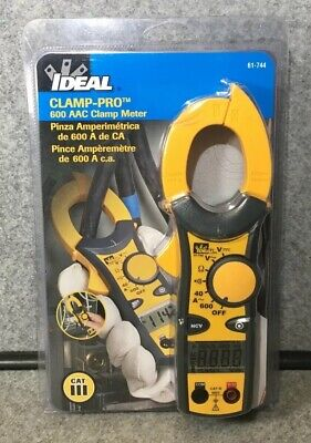 IDEAL INDUSTRIES INC. 61-744 Clamp Meter 600 Amp AC with NCV Voltage Tester