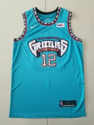 Men's 2019-20 Memphis Grizzlies #12 Ja Morant Teal 25th Season Classic Jersey