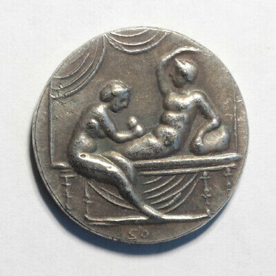Caligula Coin Ancient Roman Empire Spintria Brothel Erotic Antique Token #9
