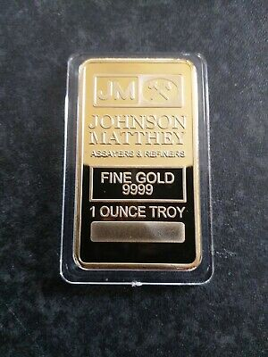House clearance item.Johnson Matthey Refiners Gold Bar.