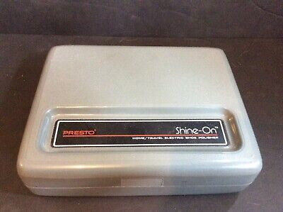 Presto Shine-on Home Travel Electric Shoe Polisher Tested Good Working Condition