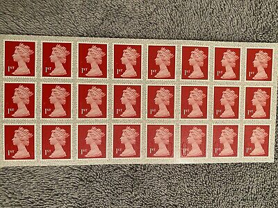 24 Royal Mail 1st Class Self Adhesive Stamps