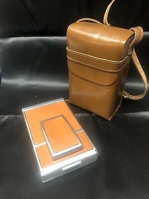Vintage Polaroid SX-70 Folding Instant Land Camera with Leather Case
