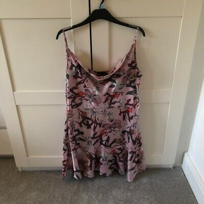 Pretty Little Thing Pink Floral Dress Size 14