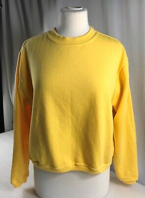 Cotton Republic Womens Ladies Yellow Jumper with long Sleeves  size 16/18