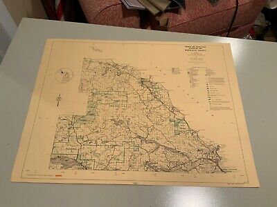 1974 North Part Marquette County Michigan DNR Highway Recreation Information Map