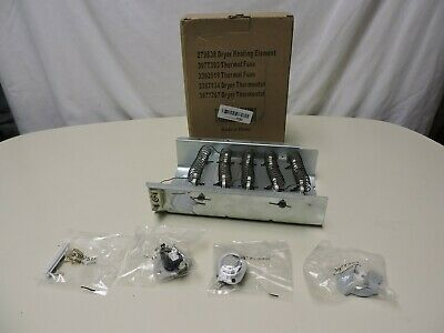 279838 Dryer Heating Element Fuse Kit Thermostat For Whirlpool Roper Kenmore US