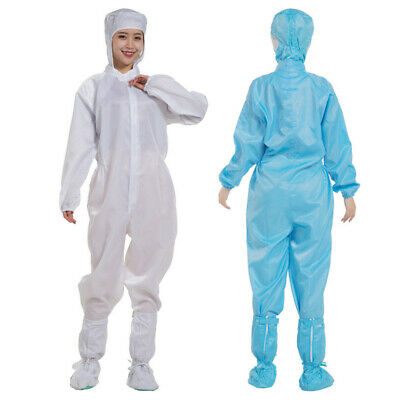 Workwear Coverall Isolation Gown Protective Suit Hood Overall Jumpsuit Reusable
