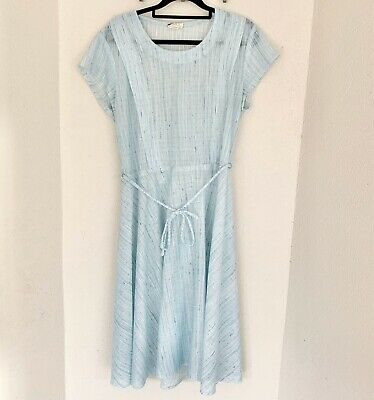 Vintage Size 14 Fashions For Today Blue Dress