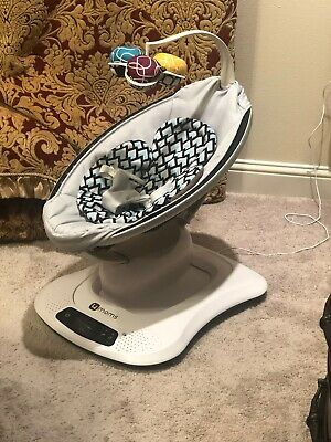 4moms MamaRoo 4 infant seat / swing – Dark Gray Cool  (NEW IN RETAIL BOX)