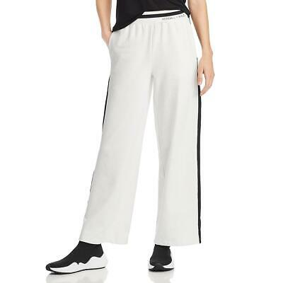 Kendall + Kylie Womens White Knit Casual Pull On Wide Leg Pants M BHFO 3236