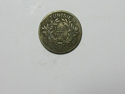 Old Tunisia Coin - 1921 1 Franc - Circulated