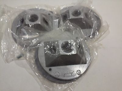 "4"" Round Cast Galaxy Covers W/3 Holes - for Weatherproof Outlet Boxes (Lot of 3)"