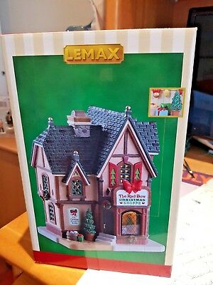 Lemax Fantastic BNIB Red Bow Christmas SHoppe with Aussie lights