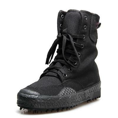 Men's Work Casual Military Combat Canvas Boots Lace Up Tactical Army Ankle Boots