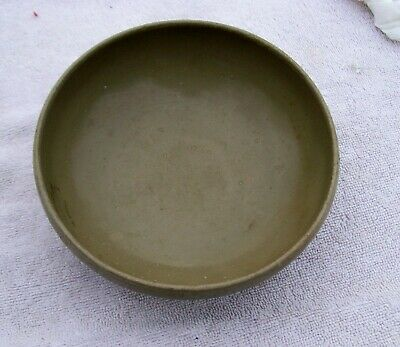 old chinese green glazed celedon colored bowl