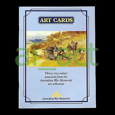 "Australian War Memorial ""Art Cards: Thirty-two colour postcards"" WW1 WW2 Vietnam"