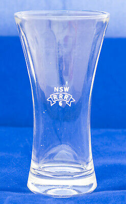 """Nsw Rrr Glass - New South Wales Railway Refreshment Rooms Glass """"6"""" - Like New"""