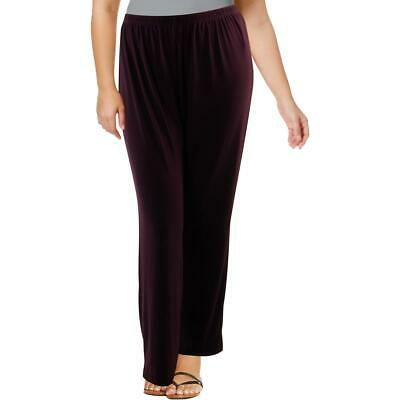 R&M Richards Womens Purple Knit Office Business Dress Pants Plus 14W BHFO 3653