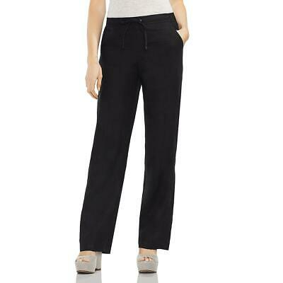 Vince Camuto Womens Black Linen Casual Pull On Wide Leg Pants XS BHFO 9413