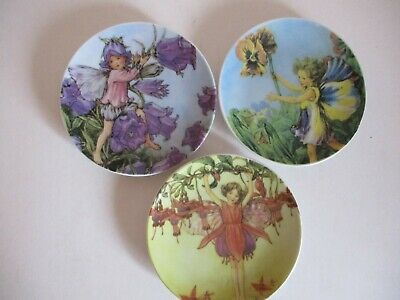 Set Of 3 Flower Fairy Plates - Pansy, Fuschia, & Bluebell