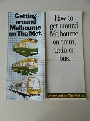 Victorian Railways VR VicRail The Met Pamphlets x 2. 80's ERA. Good Condition.