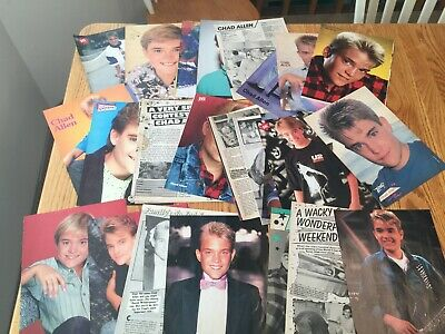 Chad Allen magazine clippings cuttings photos pinups 80s