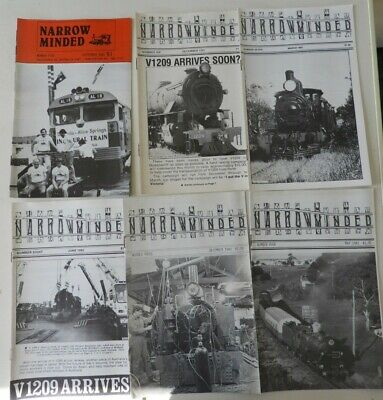 Victorian Railways VR Narrow Minded Mags x 6. Geelong Steam. Early 80's ERA.