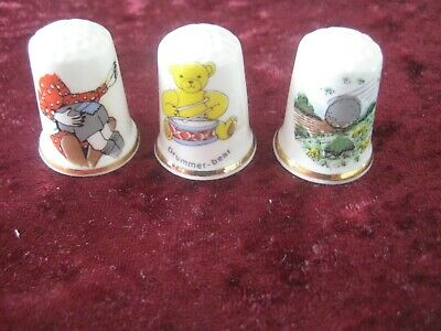 Collectables Birchcroft  Thimbles x 3 Themes