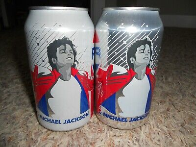 Lot (2) BRAND NEW Unopened 2018 MICHAEL JACKSON Pepsi Cola & Diet L.E. FULL CANS