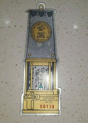 Gilbert Gray Oil Safety Lamp Limited Edition Mine Sticker from 1990's
