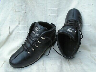 Men's Timberland Black Leather Lace Up Boots/Trainers Uk 8, Eu 42