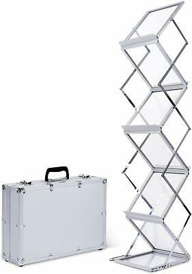A4 Brochure Display Stand Portable Folding Exhibition Magazine + Free Carry Bag