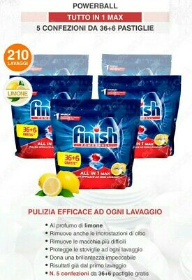 210 Pastiglie Finish Powerball Lemon max
