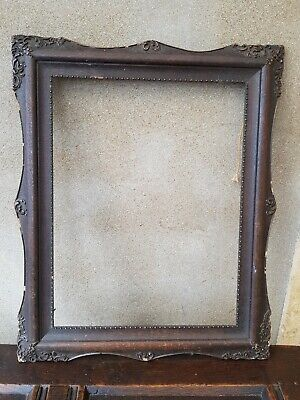 Antique-Victorian-Ornate Carved Mahogany Picture/Painting Frame-circa 1890's