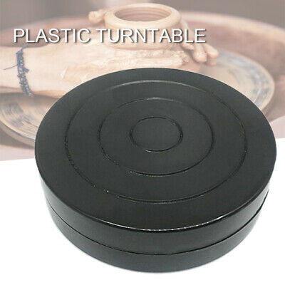 Hot 11cm Plastic Turntable Pottery Clay Sculpture Tools 360 Flexible Rotation AU