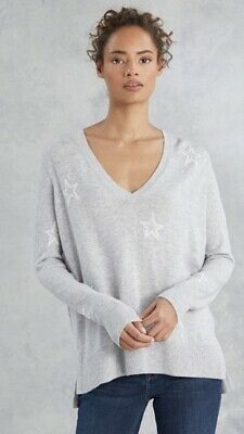 Wool Cotton Star V Neck Jumper Size 10 The White Company
