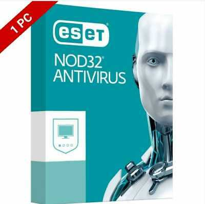 ESET NOD-32 ANTIVIRUS Genuine KEY 2 year 1 pc 2020 Digital downlod