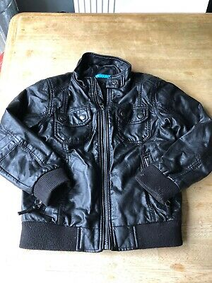 Boys Marks And Spencer Faux Leather Biker Jacket Age 7-8